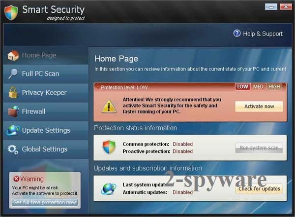Smart Security virusas ekrano nuotrauka