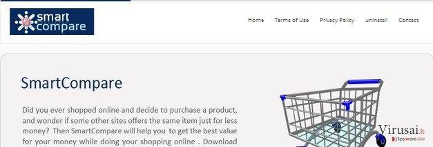 SmartCompare reklamos ekrano nuotrauka