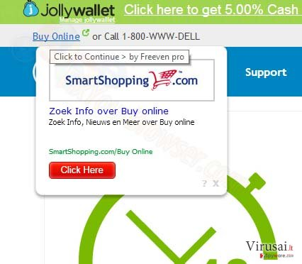 SmartShopping.com reklamos ekrano nuotrauka