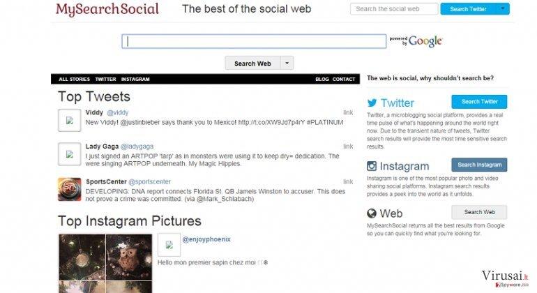 Smartwebsearch.mysearchsocial.com ekrano nuotrauka