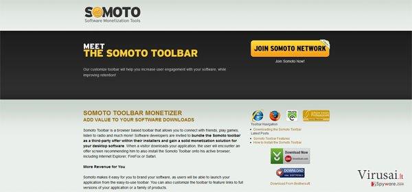 Somoto įrankių juosta ekrano nuotrauka