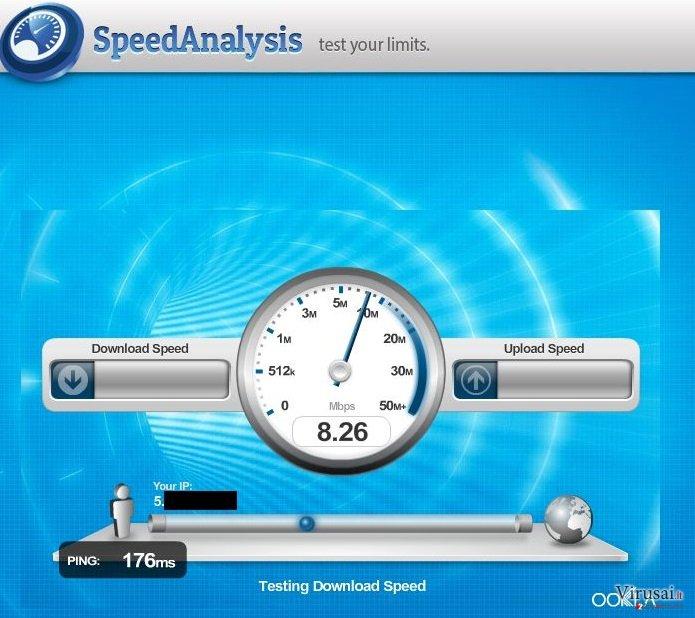 Speed Analysis ekrano nuotrauka