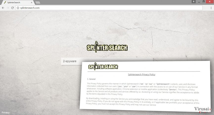 Splintersearch.com puslapis