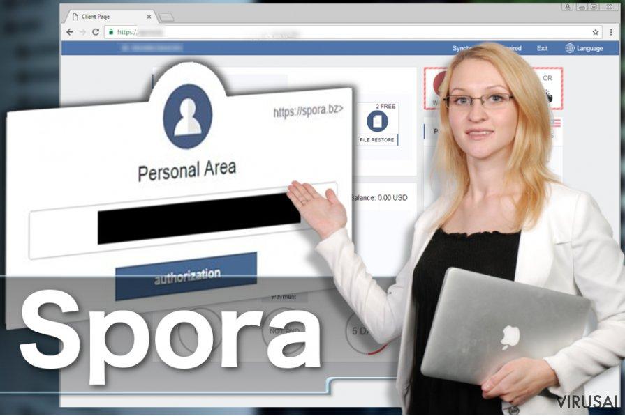 Spora virusas ekrano nuotrauka