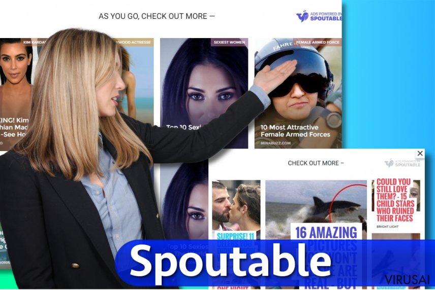 Spoutable reklaminių pasiūlymų pavyzdys