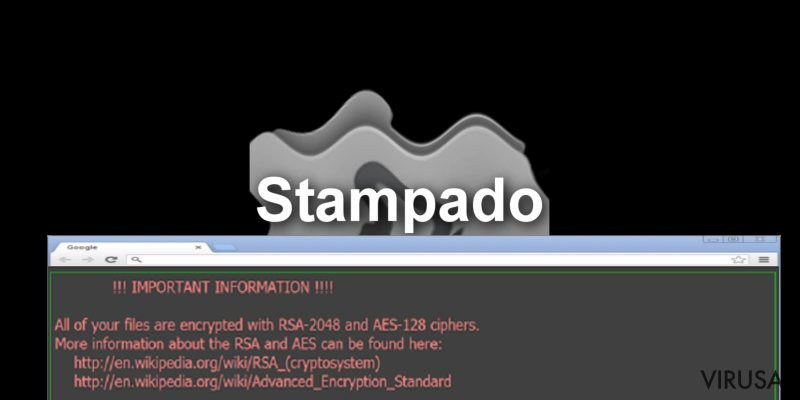 Stampado viruso pavyzdys