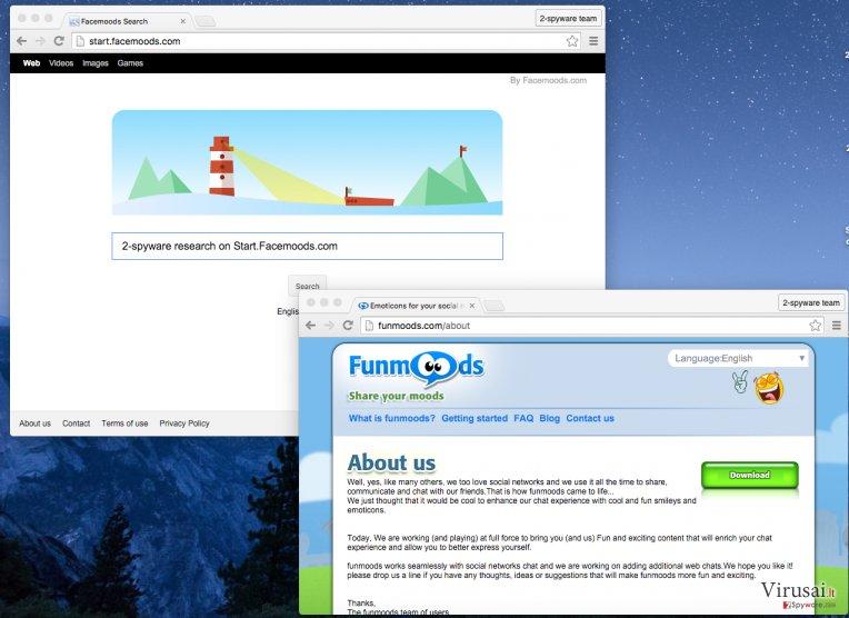 Start.Facemoods.com ekrano nuotrauka