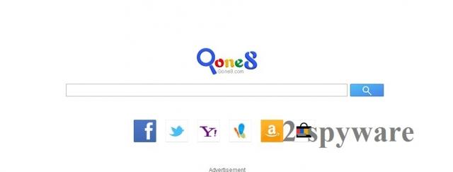 Start.qone8.com virusas ekrano nuotrauka