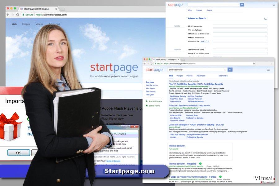 Startpage.com virusas