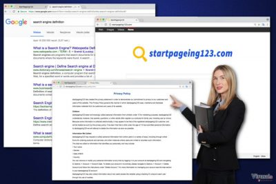 StartPageing123 viruso nuotrauka