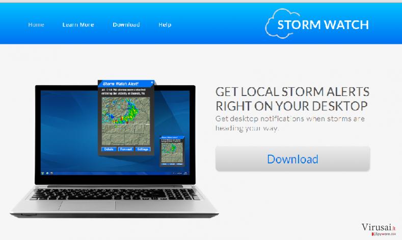 StormWatch reklamos ekrano nuotrauka
