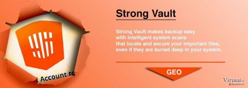 StrongVault Online Backup ekrano nuotrauka
