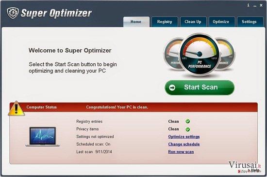 Super Optimizer ekrano nuotrauka
