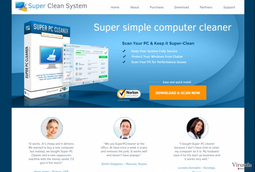 Super PC Cleaner virusas yra potencialiai pavojinga programa