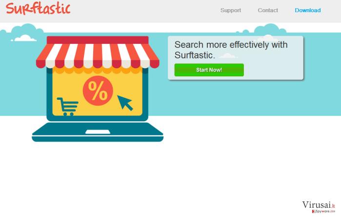 Surftastic reklamos ekrano nuotrauka
