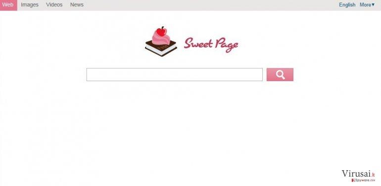 Sweet-page.com ekrano nuotrauka