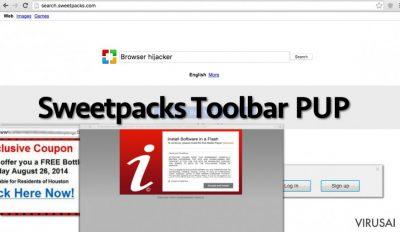 Sweetpacks įrankių juostos pavyzdys