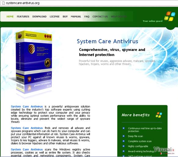 Systemcare-antivirus.org ekrano nuotrauka