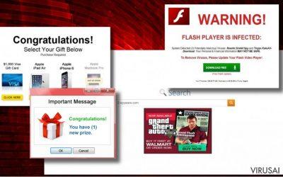 Reklamų, kurias pateikia Tags.bluekai.com virusas pavyzdys