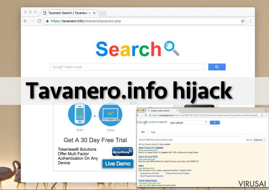 Tavanero.info virusas taikosi į įvairias interneto naršykles
