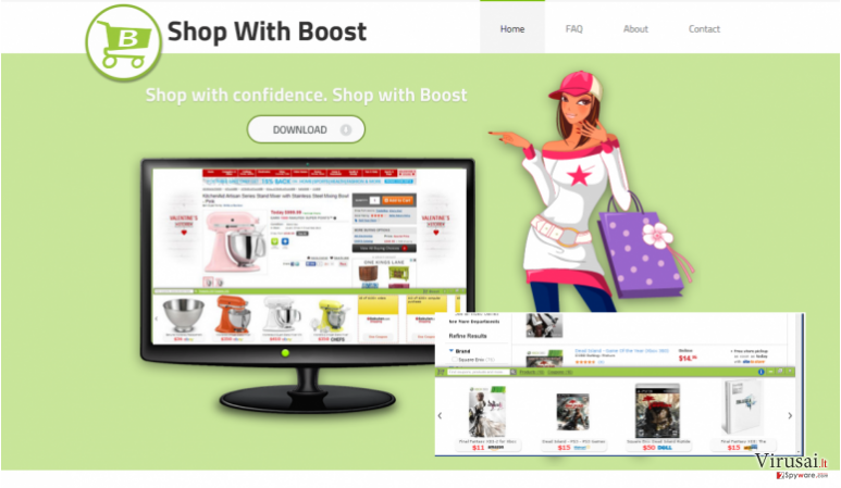 Boost reklamos ekrano nuotrauka