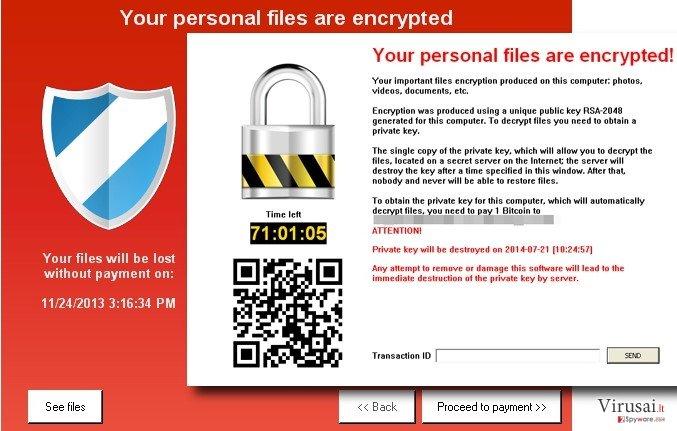 KeRanger virusas ekrano nuotrauka