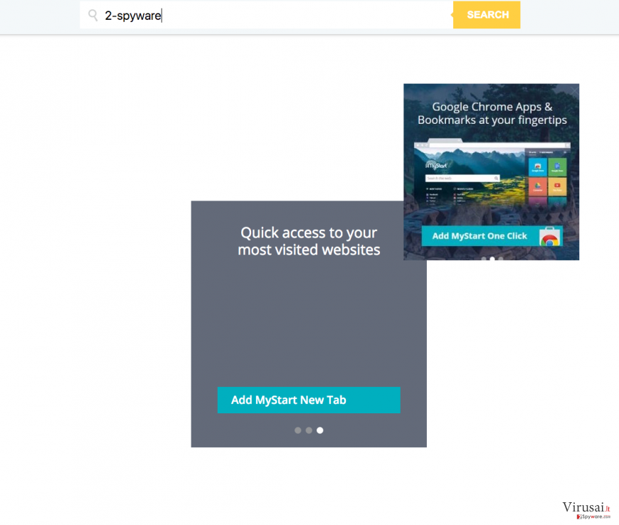 MyStart.com peradresavimas ekrano nuotrauka