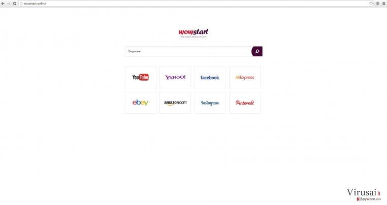 Wowstart.online viruso pavyzdys