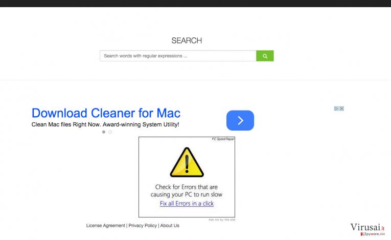 ColdSearch.com virusas ekrano nuotrauka