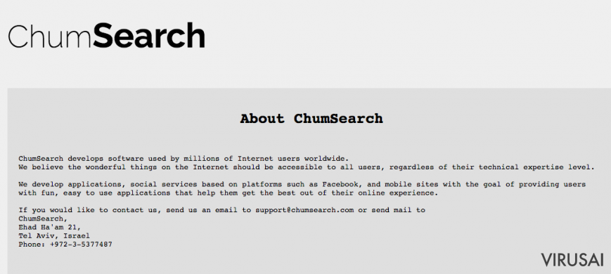 Chumsearch.com ekrano nuotrauka