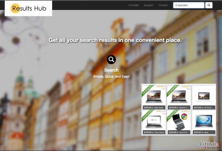 Results Hub reklamos ekrano nuotrauka