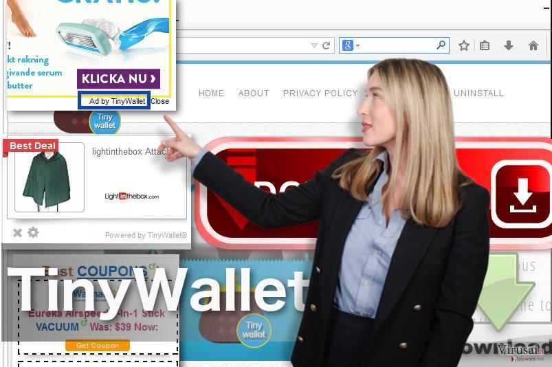 TinyWallet reklamos