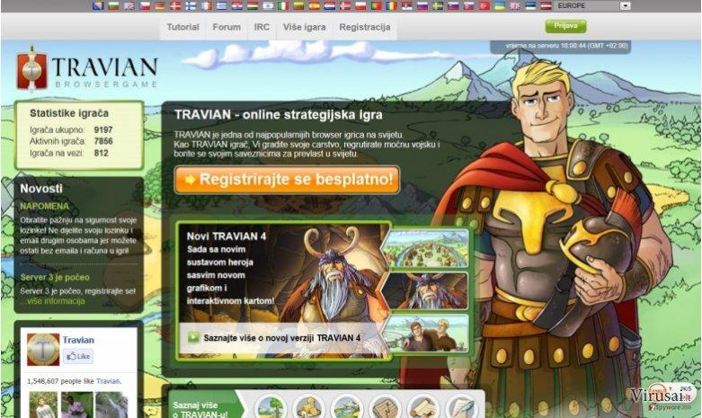 Travian Ads ekrano nuotrauka