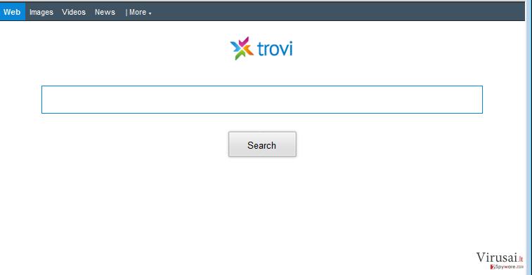 Trovi.com peradresavimai ekrano nuotrauka