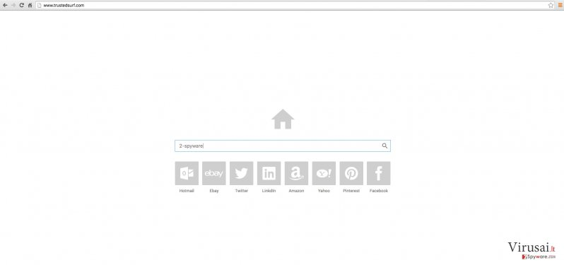 Trustedsurf.com svetainės pavyzdys