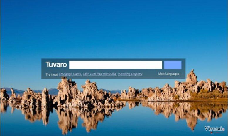 Tuvaro virusas ekrano nuotrauka