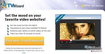 TV Wizard virusas ekrano nuotrauka
