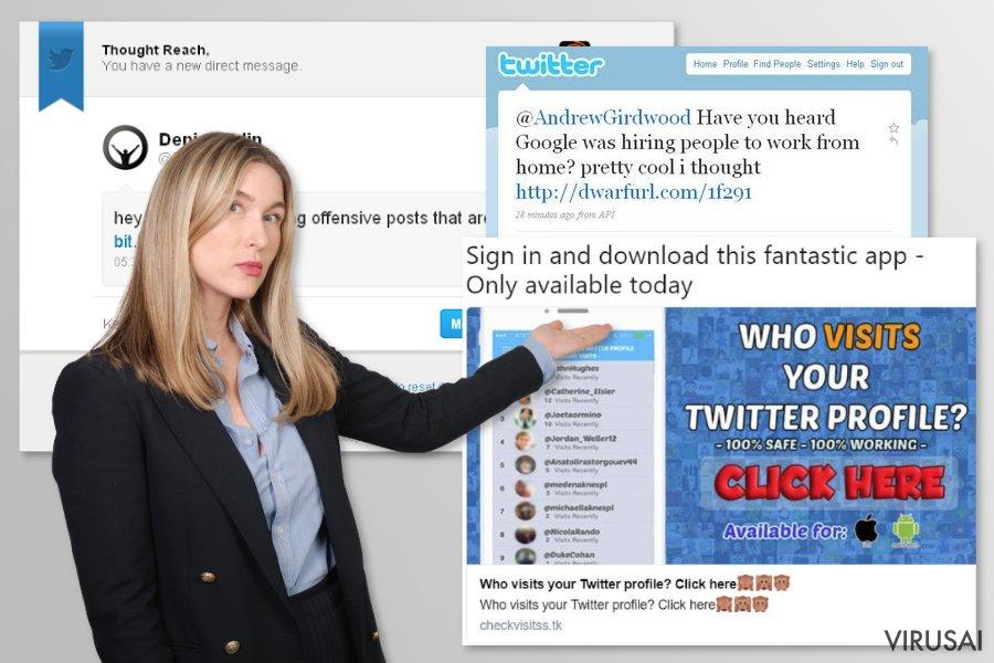 Twitter virusas