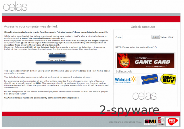 Ultimate Game Card ransomware ekrano nuotrauka