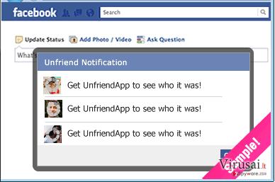 UnfriendTool ekrano nuotrauka