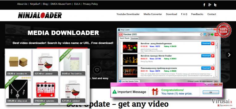 Ads by Ninja Loader removal