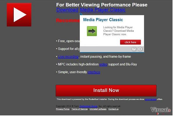 Updates.com reklamos ekrano nuotrauka