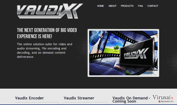 Vaudix virusas ekrano nuotrauka