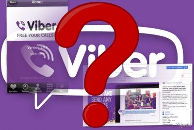 """""""Viber"""" programėlės bei naršyklės priedo pavyzdžiai"""