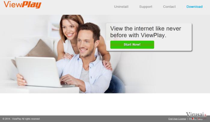 ViewPlay reklamos ekrano nuotrauka