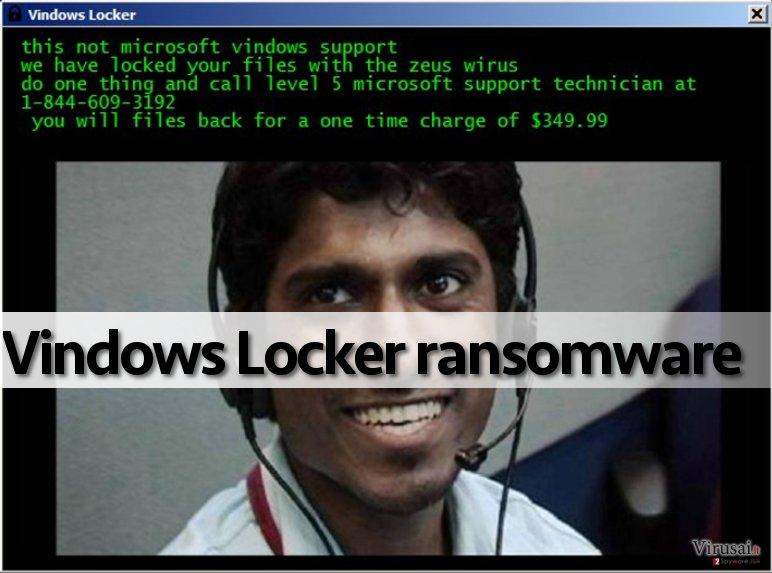 Vindows Locker virusas užgrobia kompiuterį