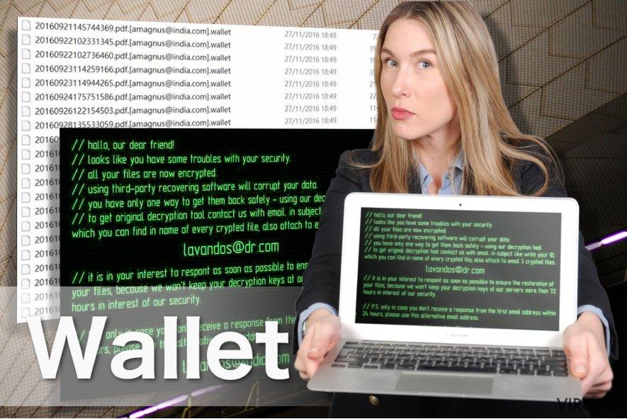 Wallet viruso pavyzdys