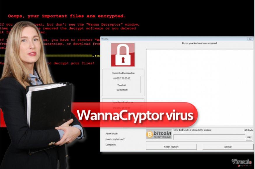 WannaCryptor ransomware virusas