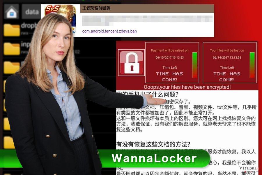 WannaLocker viruso raštelis