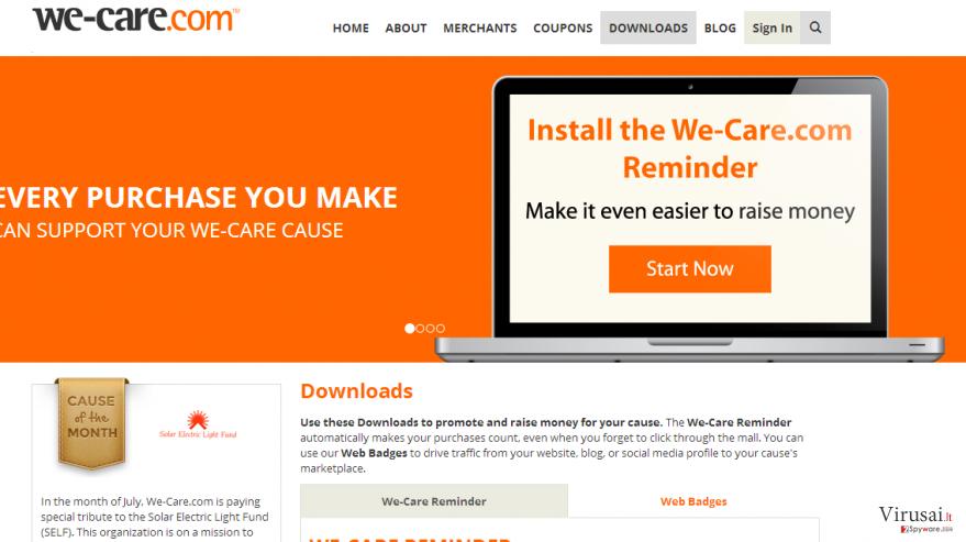We-care.com ekrano nuotrauka